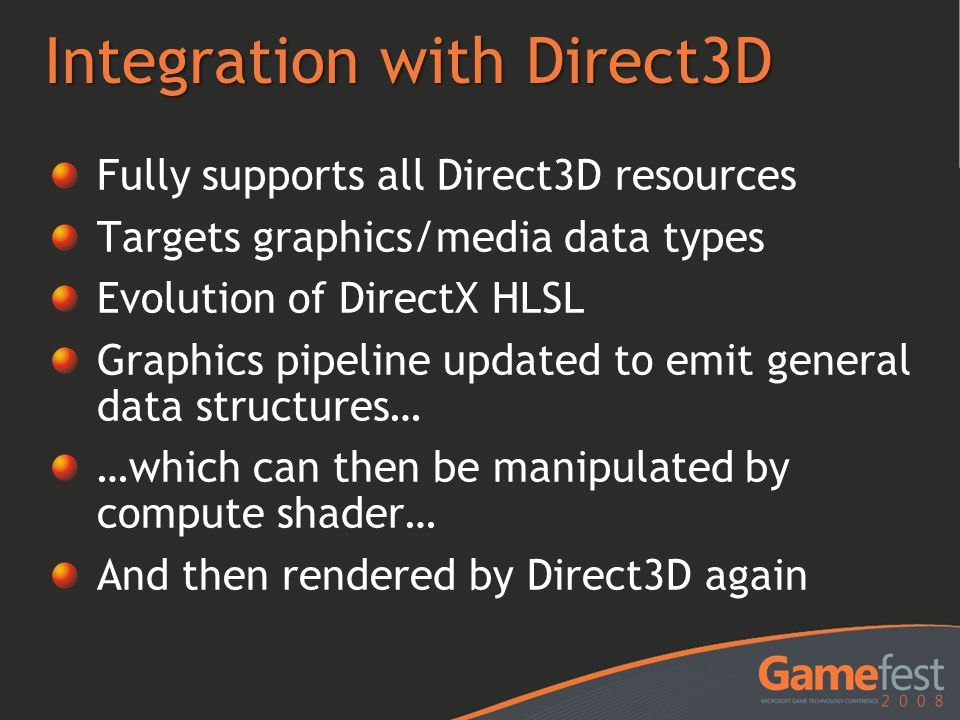 Integration with Direct3D