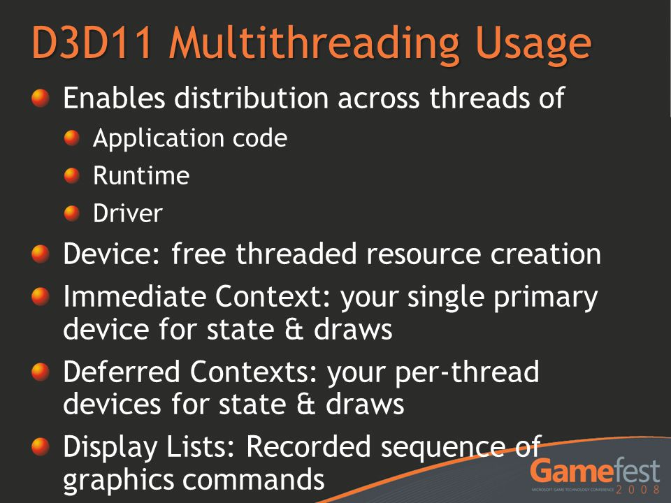 D3D11 Multithreading Usage