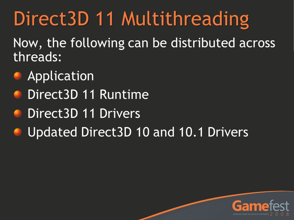 Direct3D 11 Multithreading