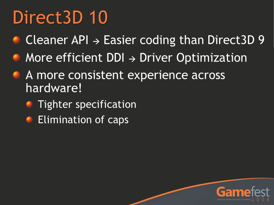 Direct3D 10 Cleaner API  Easier coding than Direct3D 9