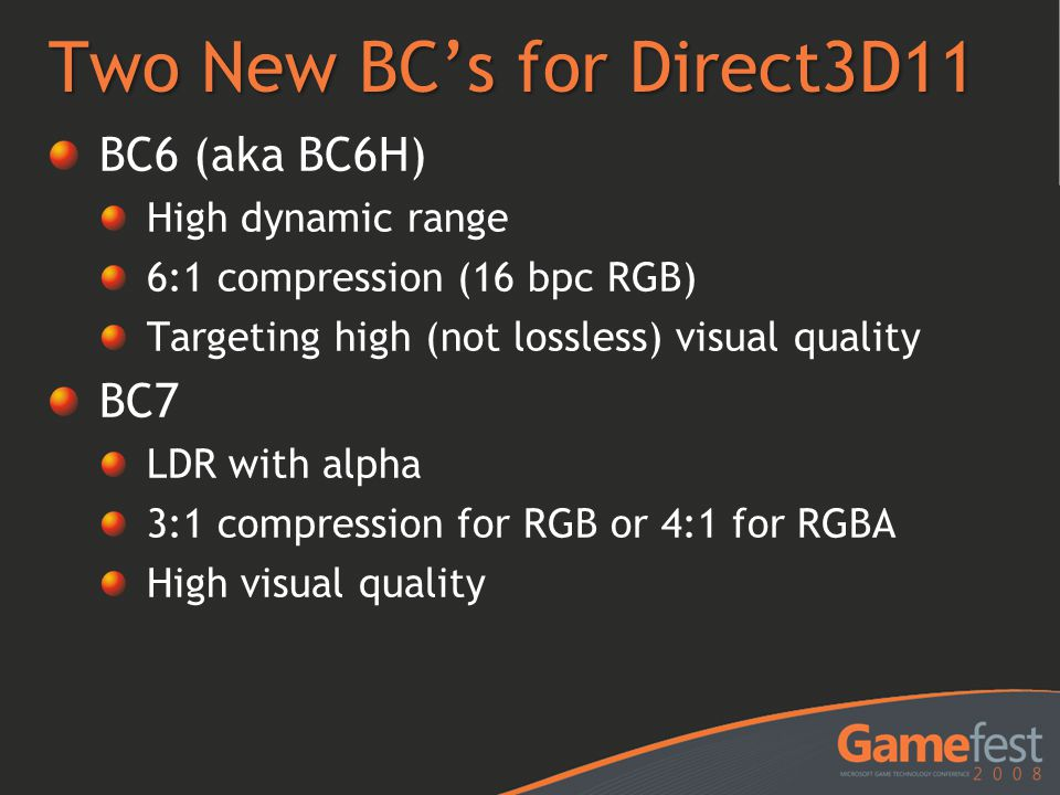 Two New BC's for Direct3D11