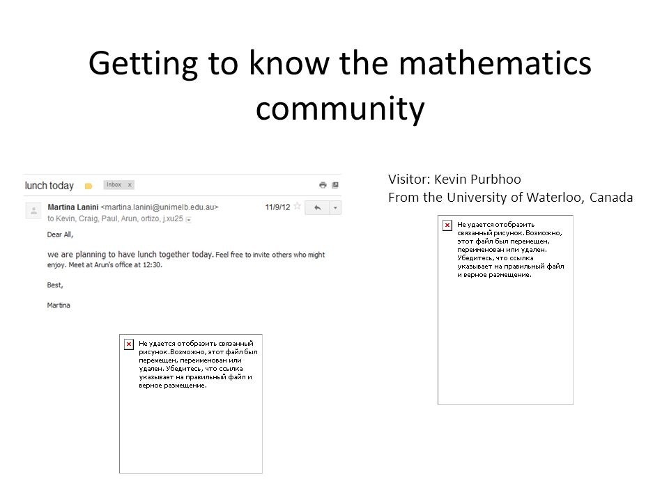 Getting to know the mathematics community
