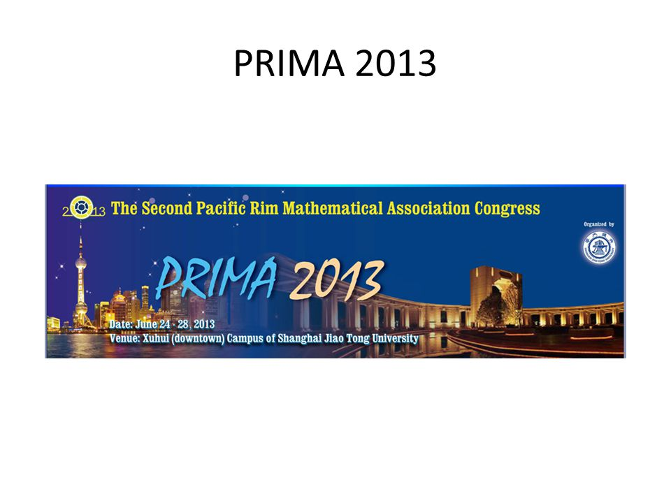 PRIMA 2013