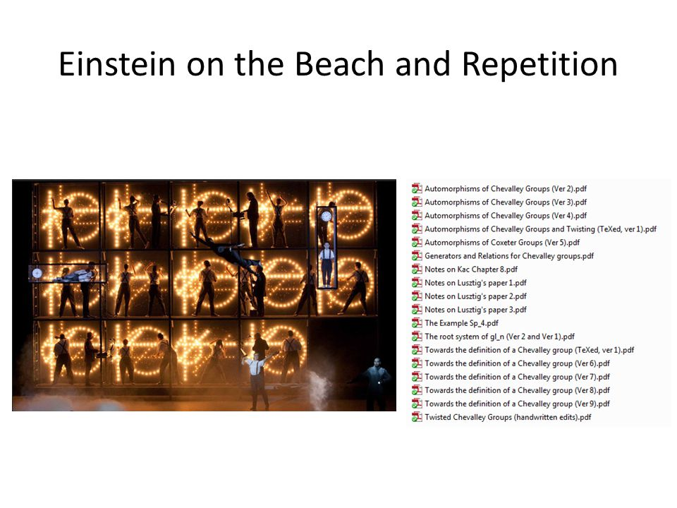 Einstein on the Beach and Repetition