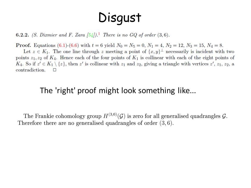Disgust The right proof might look something like...
