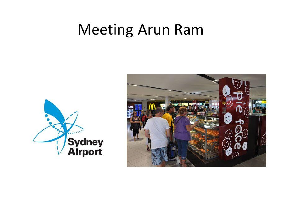 Meeting Arun Ram