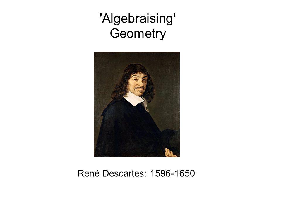 Algebraising Geometry