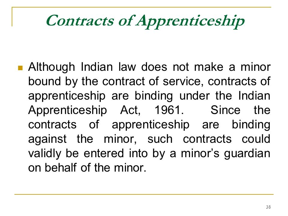 Contracts of Apprenticeship