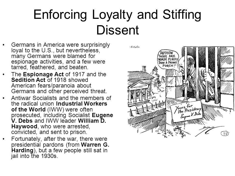 Enforcing Loyalty and Stiffing Dissent