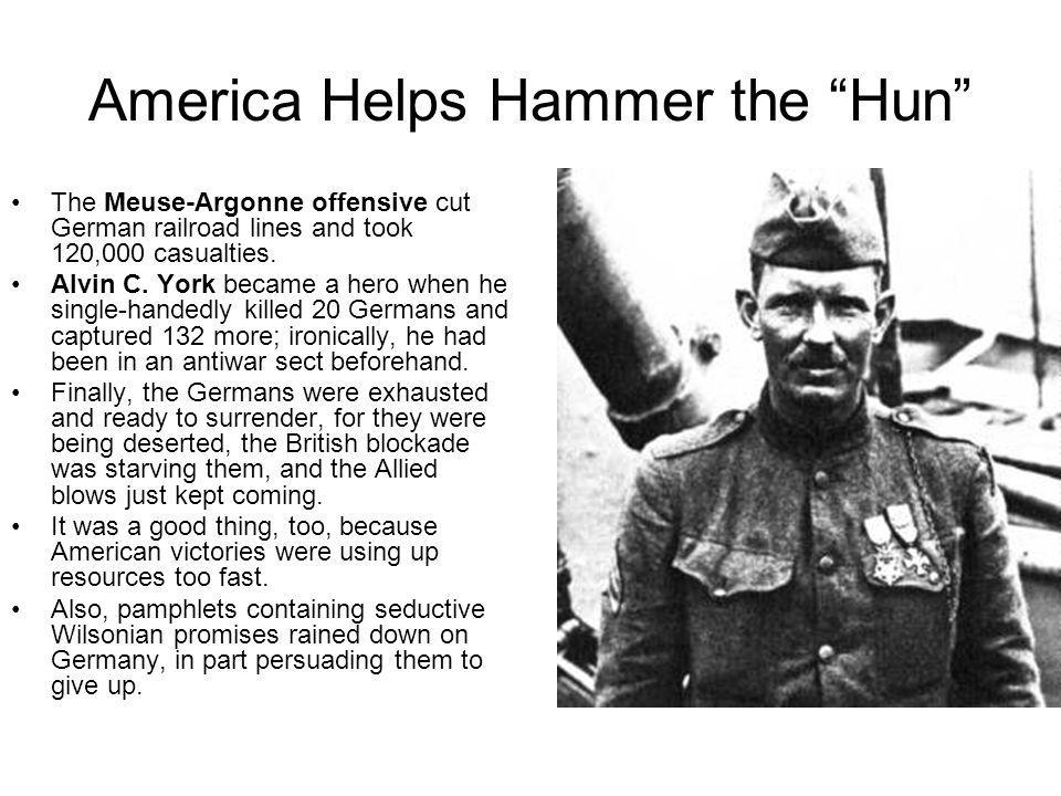 America Helps Hammer the Hun