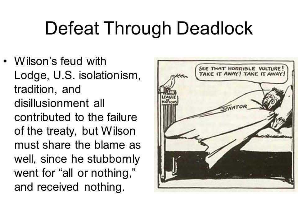 Defeat Through Deadlock