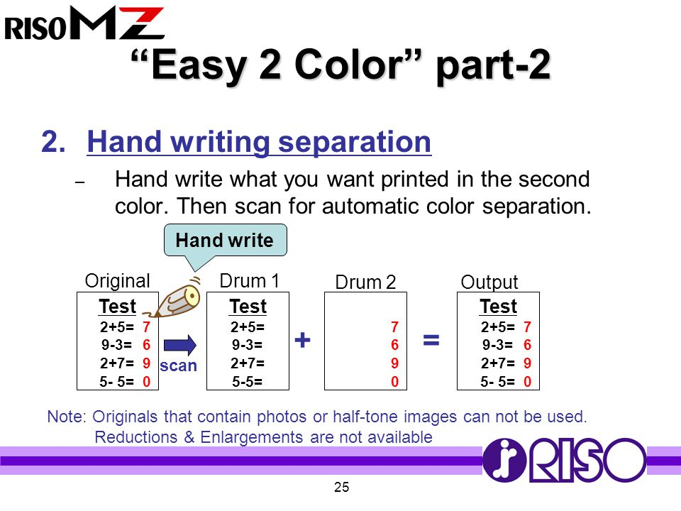 Easy 2 Color part-2 Hand writing separation + =