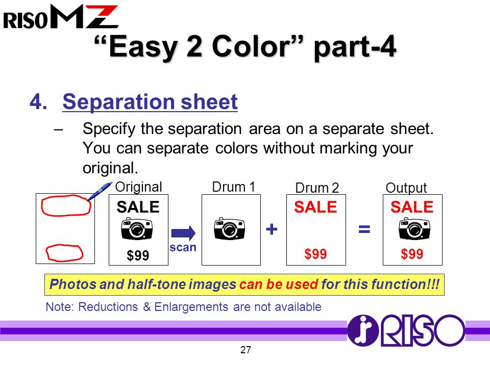 Easy 2 Color part-4 Separation sheet + =