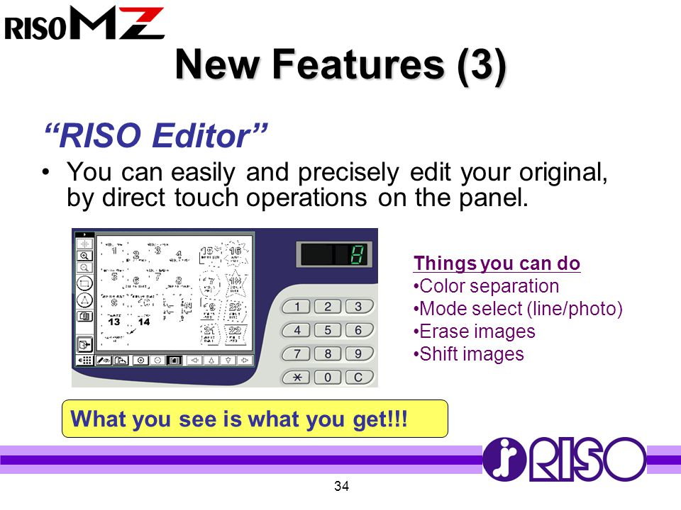 New Features (3) RISO Editor