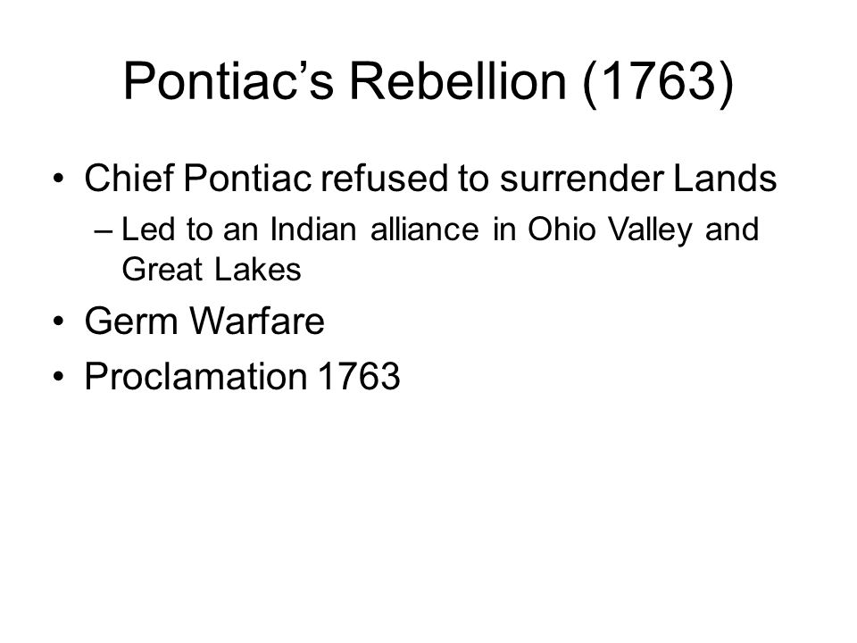Pontiac's Rebellion (1763)
