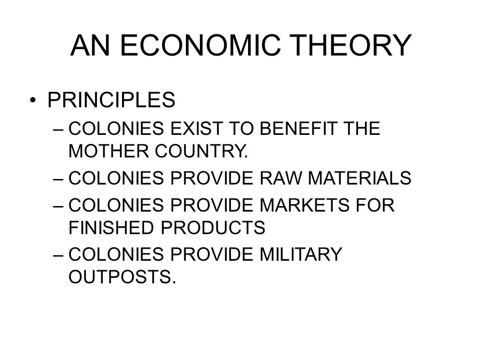 AN ECONOMIC THEORY PRINCIPLES