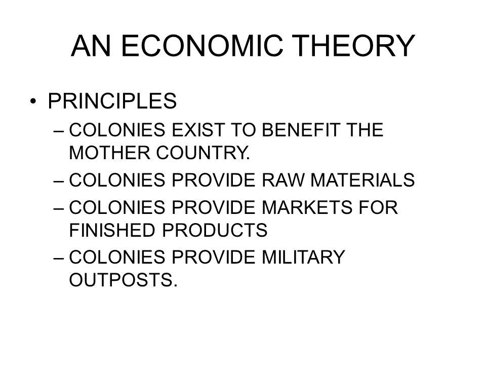 AN ECONOMIC THEORY PRINCIPLES