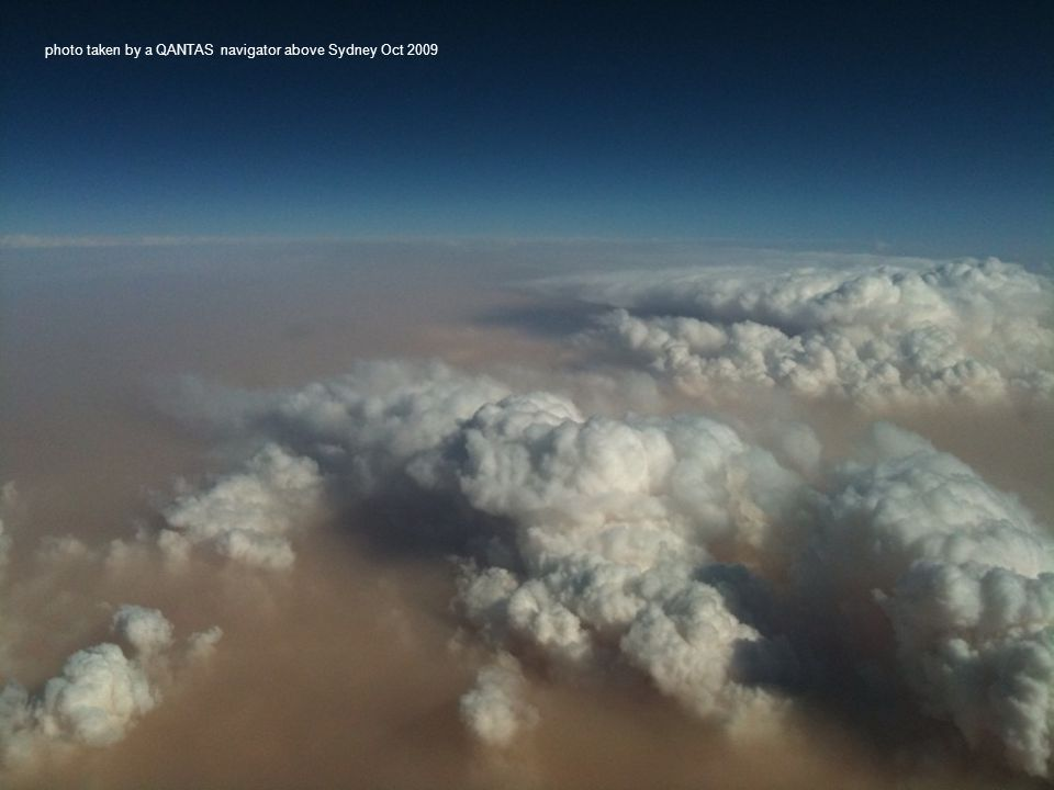 photo taken by a QANTAS navigator above Sydney Oct 2009