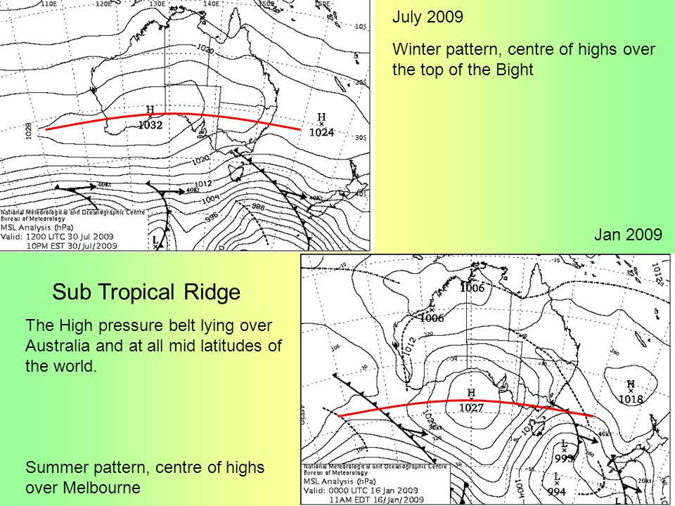 Sub Tropical Ridge July 2009