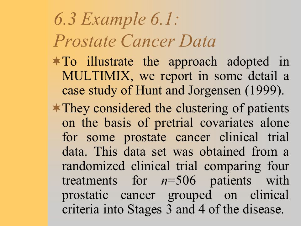6.3 Example 6.1: Prostate Cancer Data