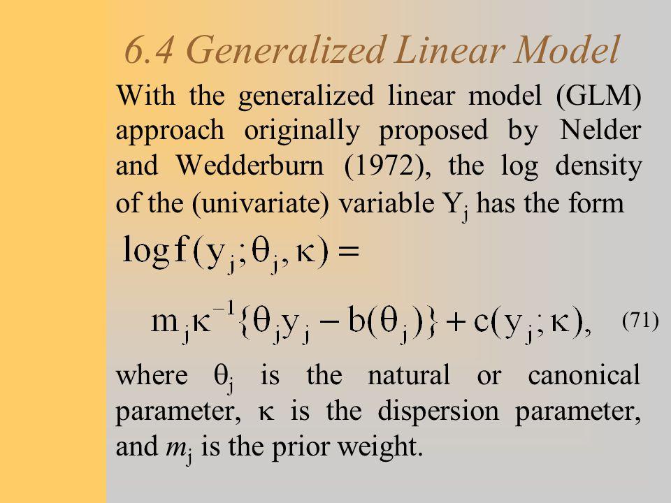 6.4 Generalized Linear Model