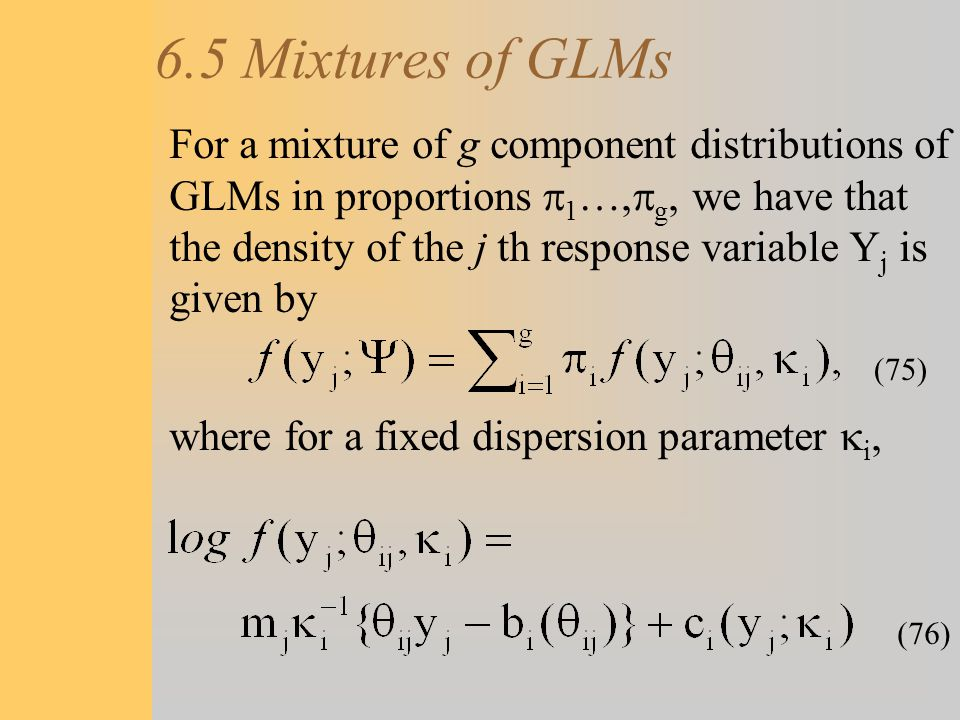 6.5 Mixtures of GLMs