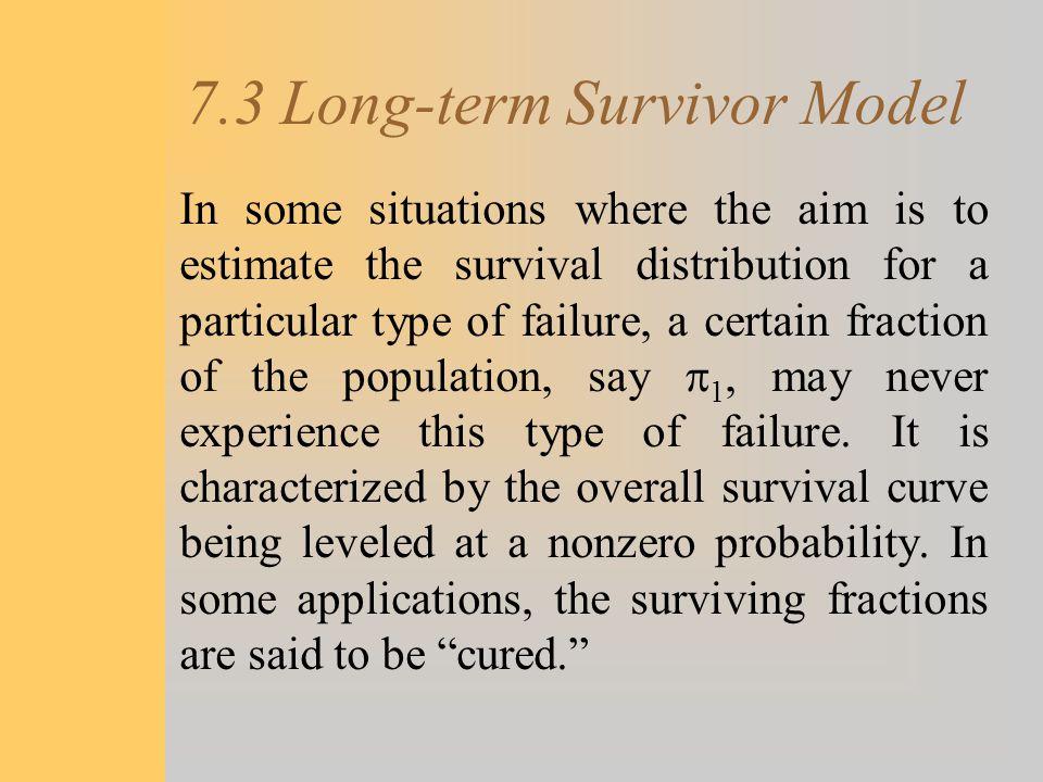 7.3 Long-term Survivor Model