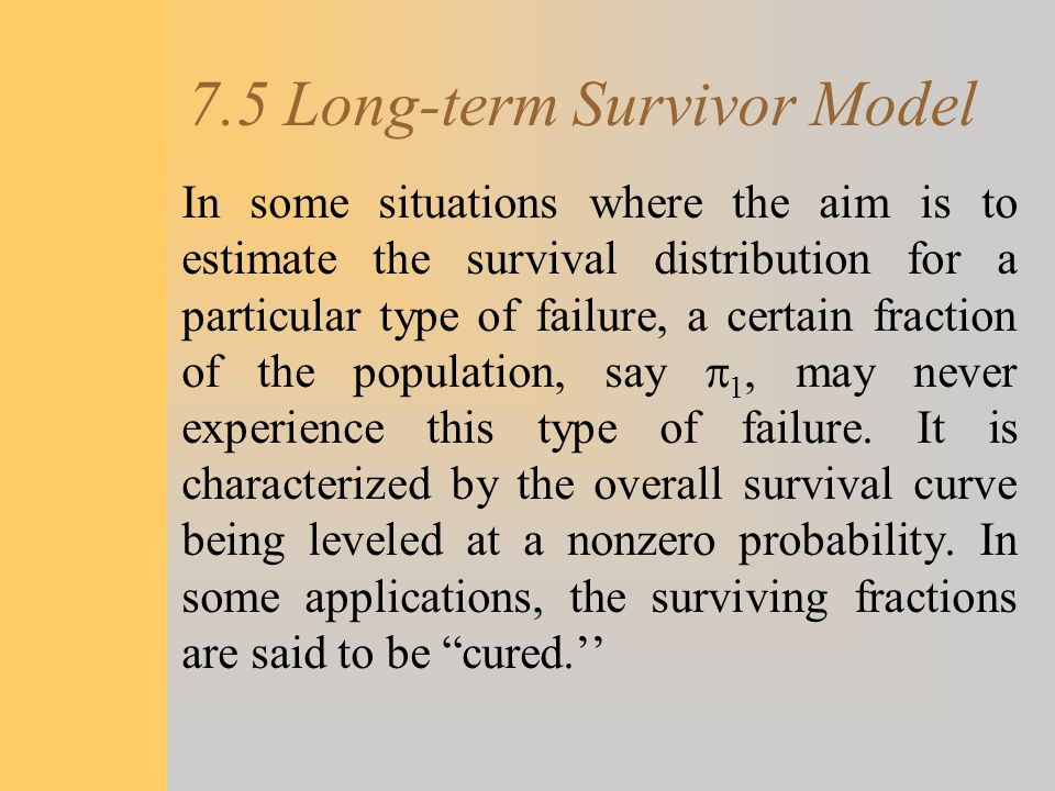 7.5 Long-term Survivor Model