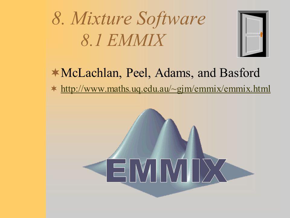 8. Mixture Software 8.1 EMMIX