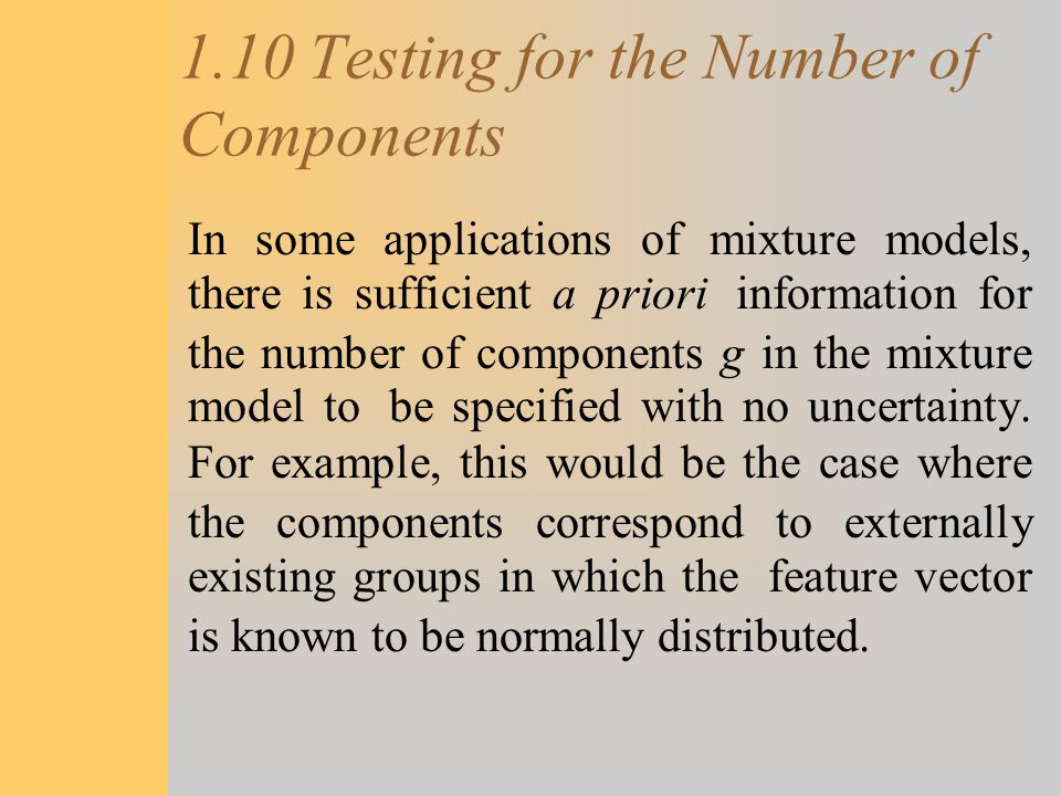 1.10 Testing for the Number of Components