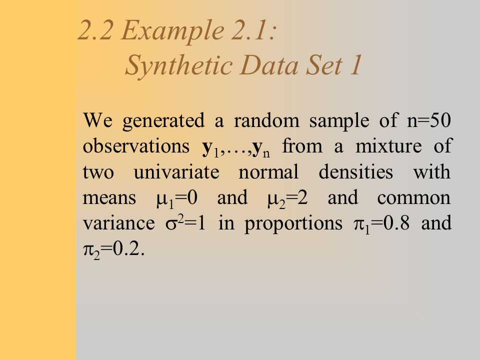 2.2 Example 2.1: Synthetic Data Set 1