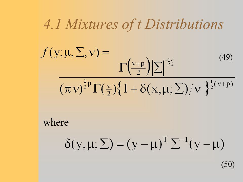 4.1 Mixtures of t Distributions