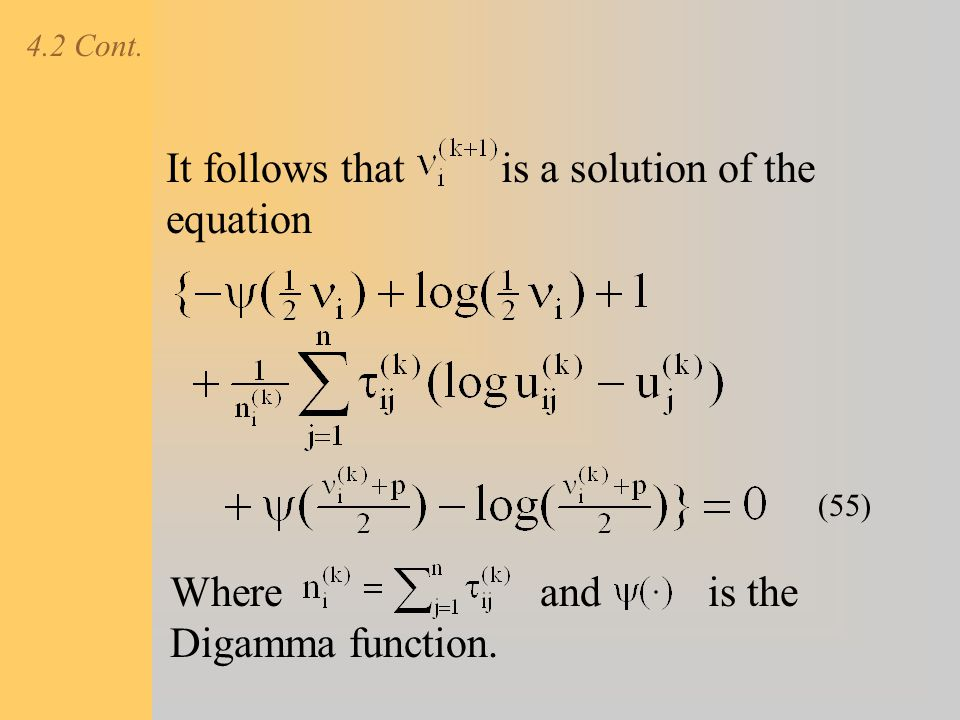It follows that is a solution of the equation