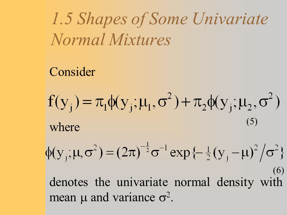 1.5 Shapes of Some Univariate Normal Mixtures