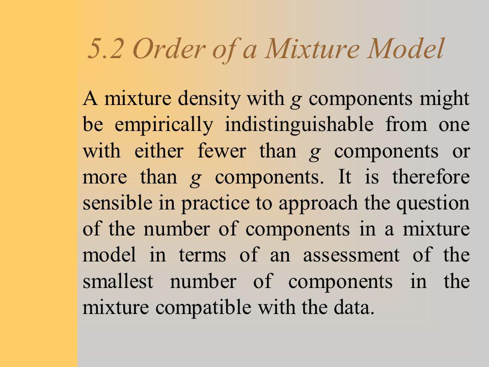 5.2 Order of a Mixture Model