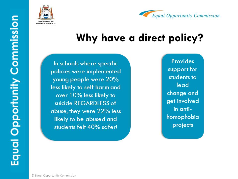 Why have a direct policy