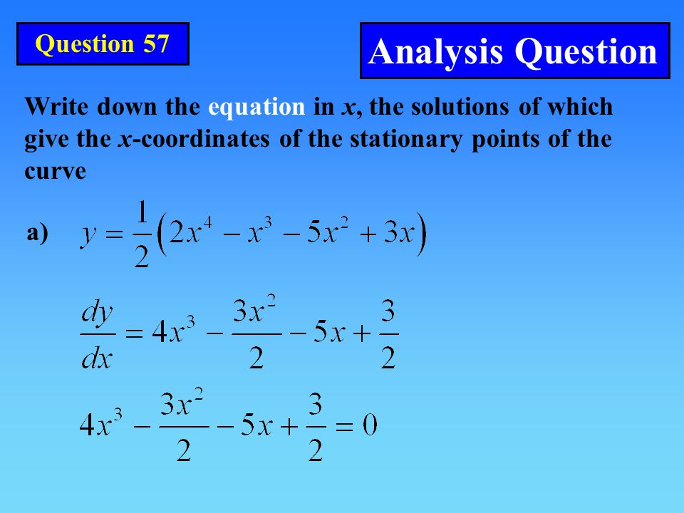 Analysis Question Question 57