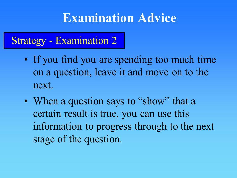 Strategy - Examination 2