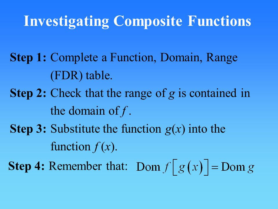 Investigating Composite Functions