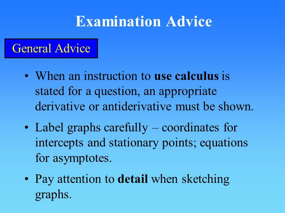 Examination Advice General Advice