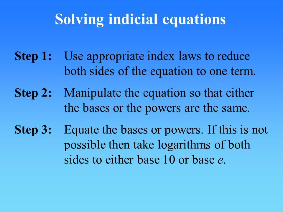 Solving indicial equations