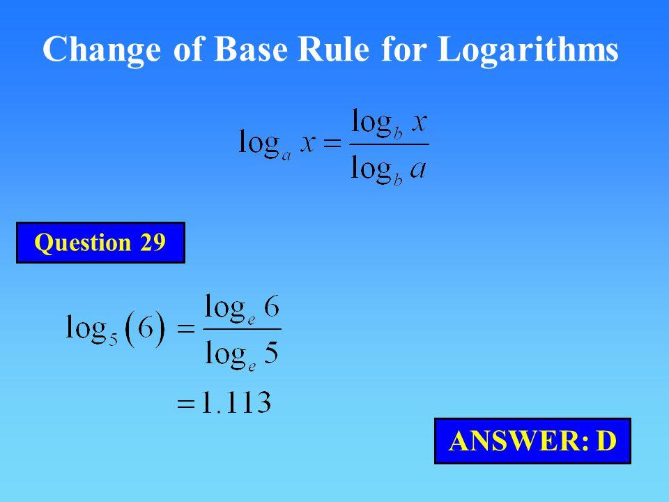 Change of Base Rule for Logarithms