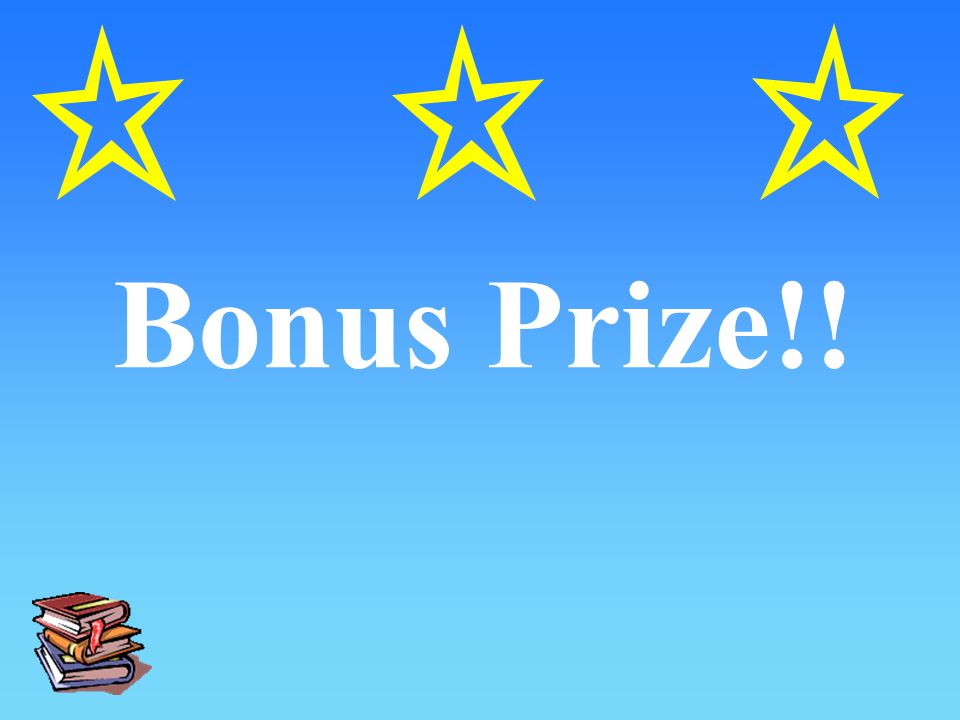 Bonus Prize!!