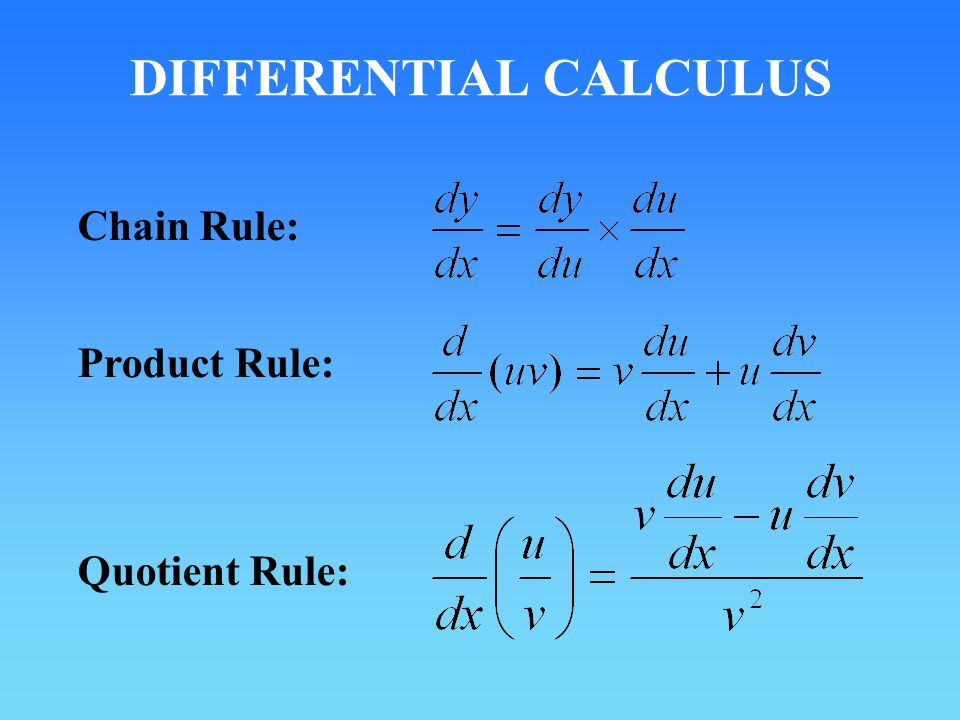 DIFFERENTIAL CALCULUS