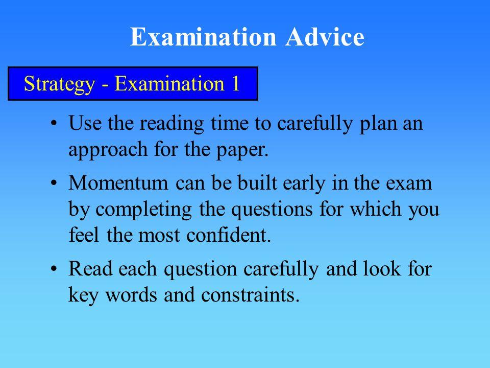 Strategy - Examination 1