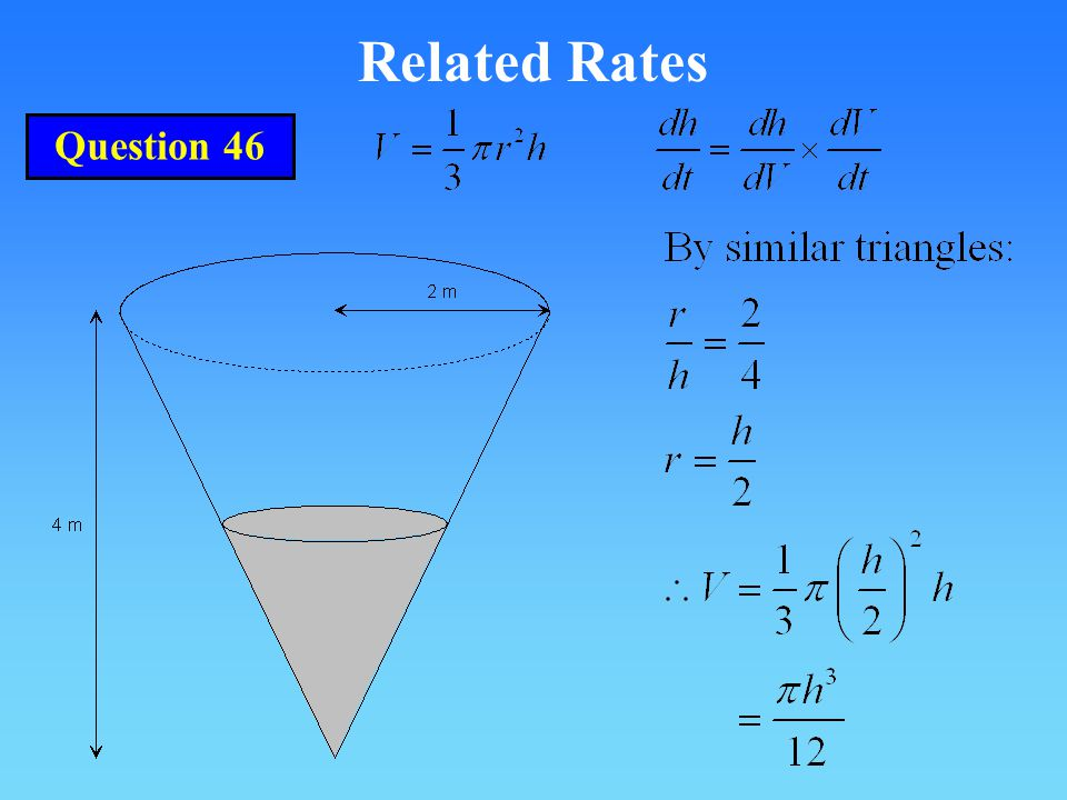 Related Rates Question 46