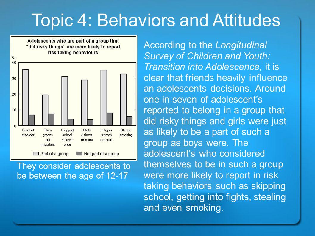 Topic 4: Behaviors and Attitudes