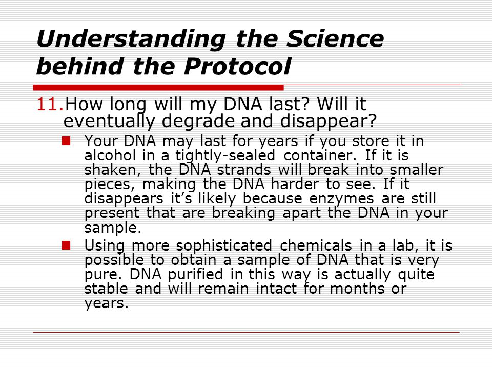 Understanding the Science behind the Protocol
