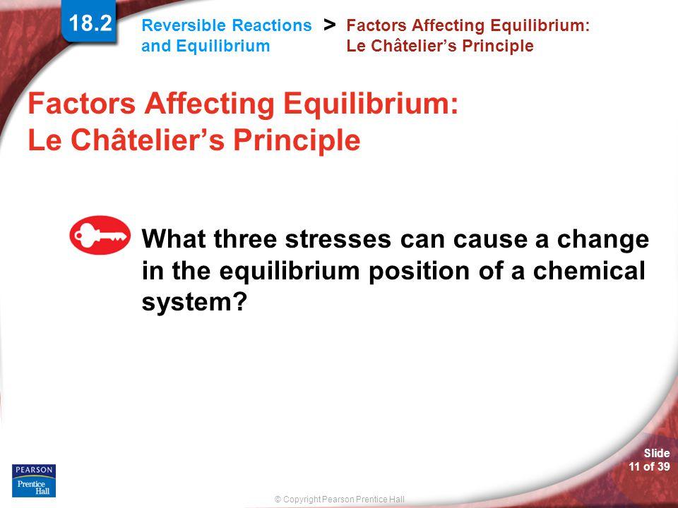 Factors Affecting Equilibrium: Le Châtelier's Principle
