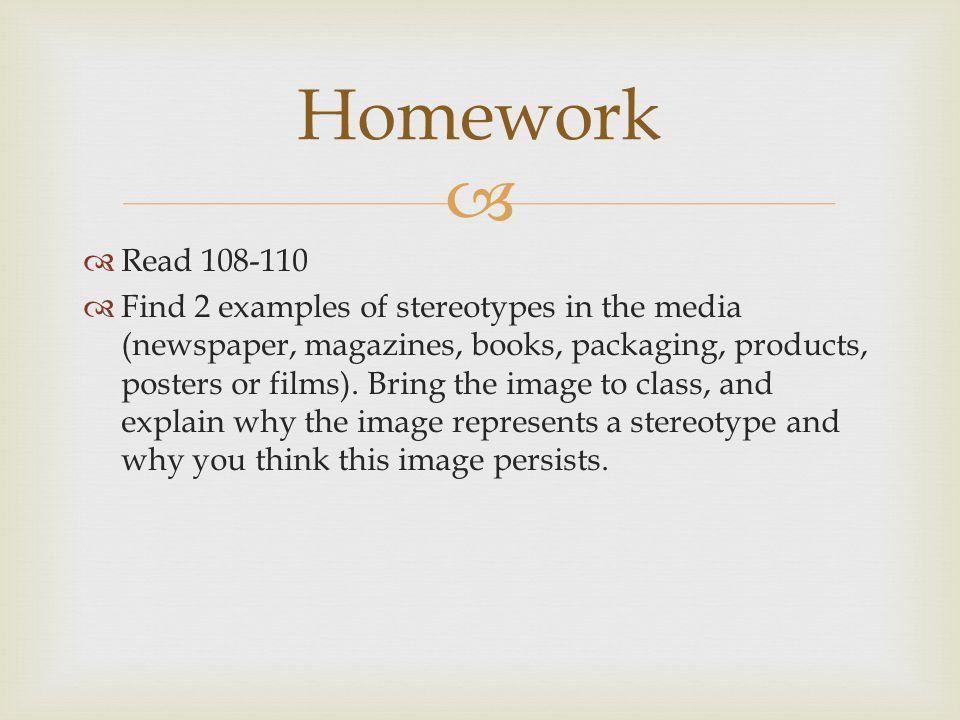 Homework Read 108-110.